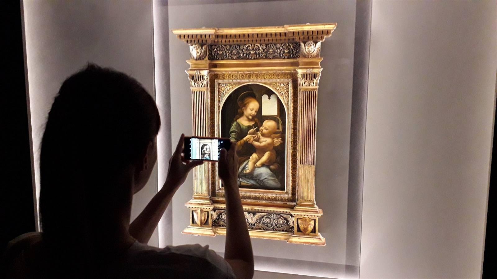 Madonna Benois di Leonardo alla Galleria Nazionale dell'Umbria