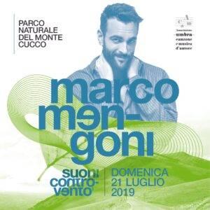 locandina del concerto di marco mengoni sul monte cucco estate 2019
