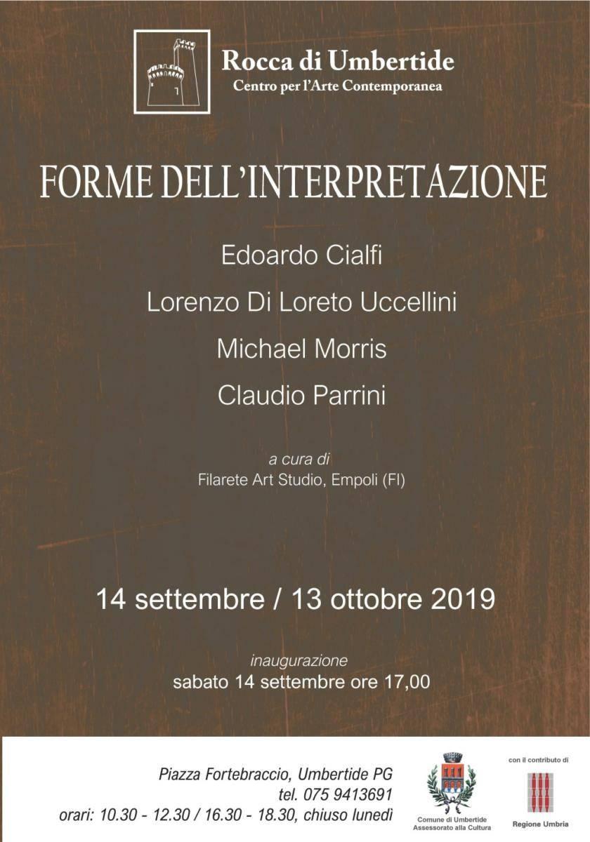 """Umberide, dal 14 settembre al 13 ottobre """"Forme dell'interpretazione"""""""