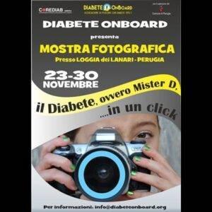 """locandina della mostra l diabete, ovvero Mister D... In un click"""""""