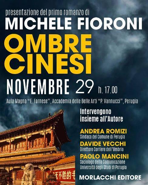 locandina presentazione del libro Ombre Cinesi a Perugia