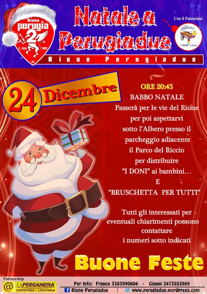 Perugia, Babbo Natale arriva a San Sisto per portare i doni