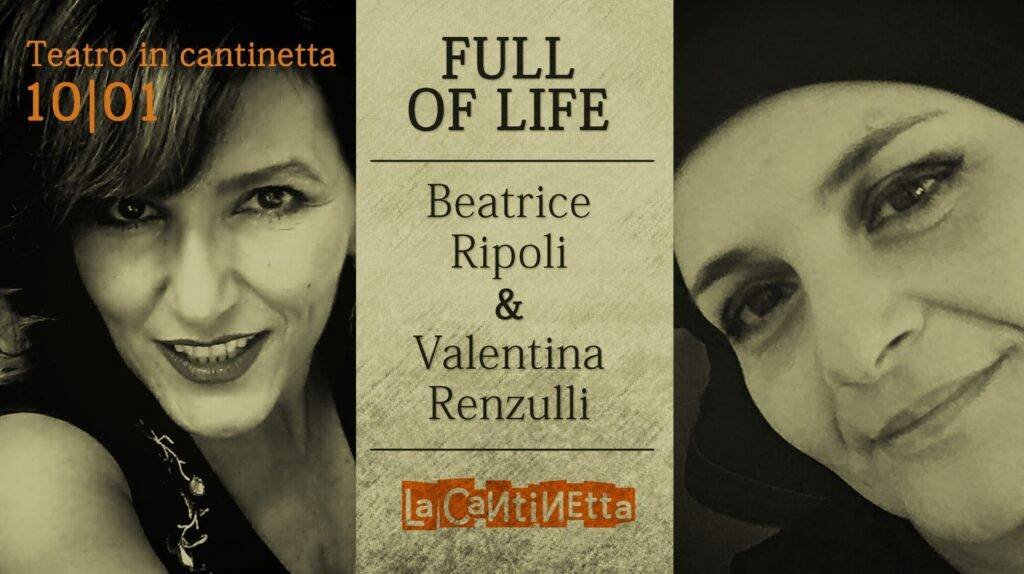 Teatro in cantinetta a Rotecastello, venerdì 10 gennaio c'è Full off life