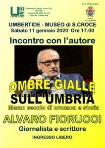 Umbertide, a Santa Croce incontro col giornalista e scrittore Alvaro Fiorucci