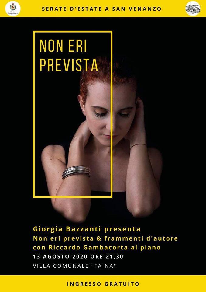 San Venanzo, il 13 agosto Giorgia Bazzanti in concerto al parco di villa Faina