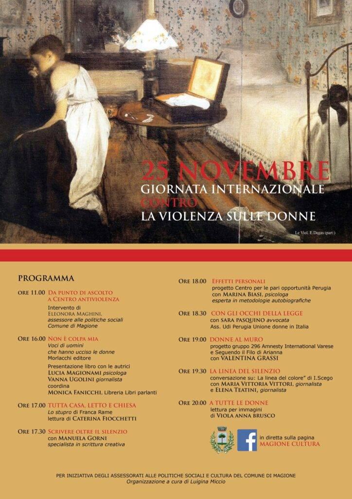 Giornata internazionale contro la violenza sulle donne | Magione 2020