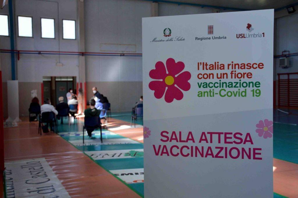 sala attesa vaccinazione
